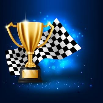 Trofeo de oro realista