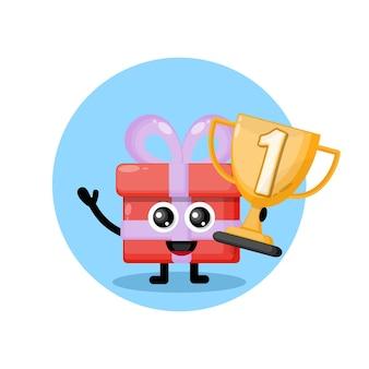 Trofeo regalo mascota personaje logo