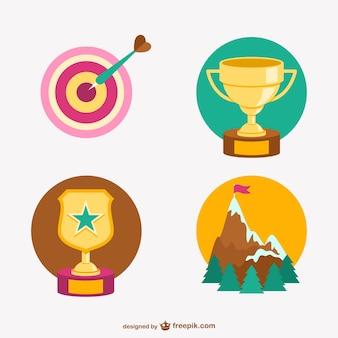 Trofeos y logros vectoriales