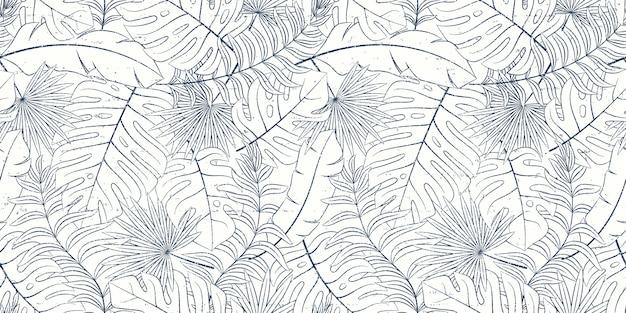Tropical patrón natural sin fisuras de hojas exóticas.