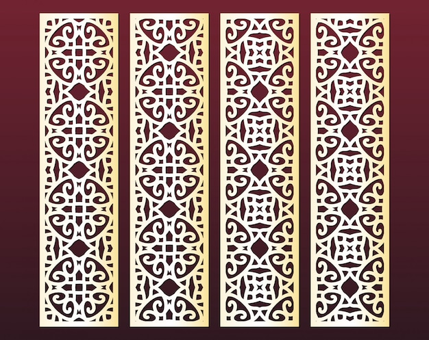 Troqueles y bordes decorativos cortados con láser estilo oriental
