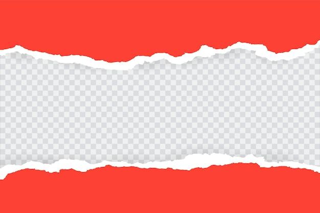 Un trozo de papel azul horizontal rasgado y rasgado con una sombra suave está sobre un fondo gris cuadrado para el texto. ilustración vectorial