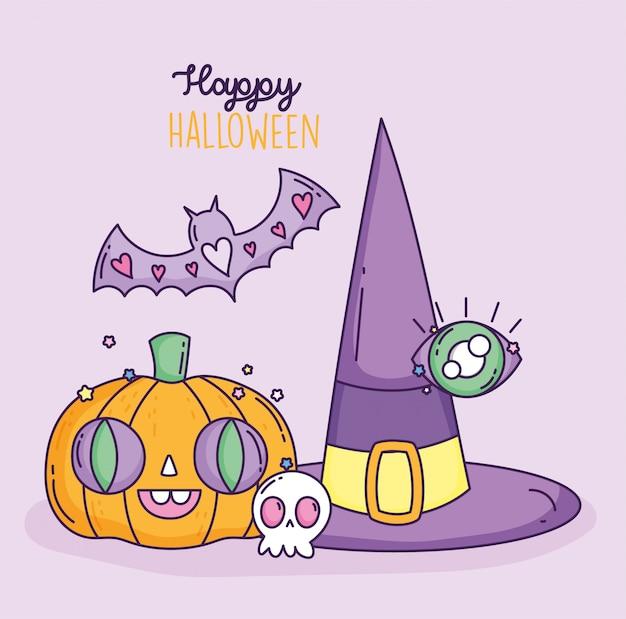 Truco o trato feliz halloween