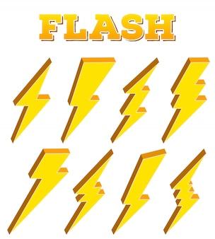 Trueno, flash de iluminación de perno, rayo eléctrico