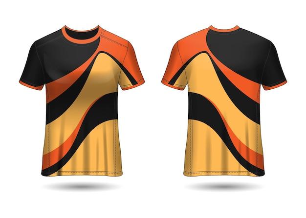 Tshirt sport design camiseta de carreras para la vista frontal y posterior del uniforme del club