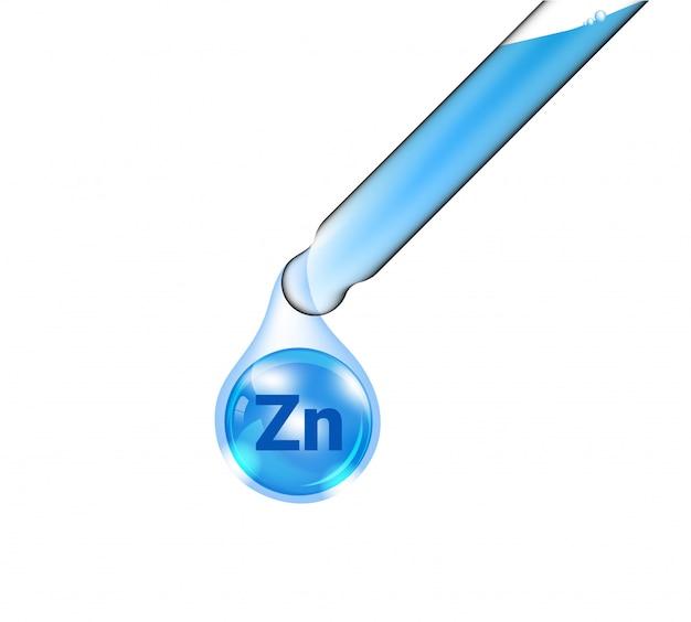 Tubo de pipeta, cuentagotas cosmético realista y aceite de vitamina zinc para productos de cuidado de la piel y belleza en aislados