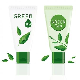 Tubo de té verde