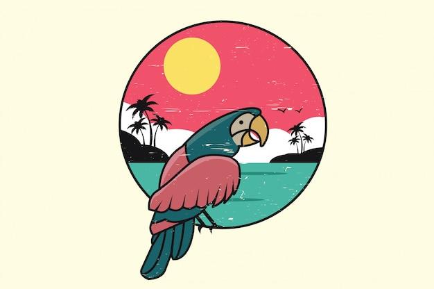 Tucán tropical summer bird