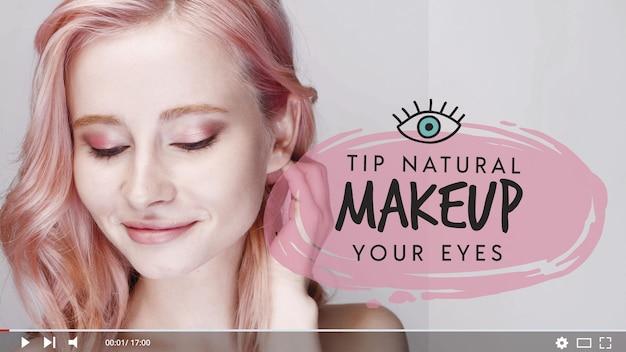 Tutorial de maquillaje en miniatura de youtube