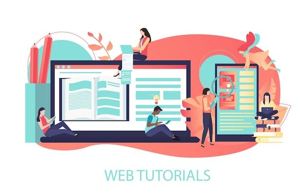 Tutoriales web la distancia de libros de texto electrónicos y el elearning mejoran las habilidades por internet