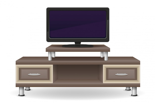 Tv mesa muebles vector illustration