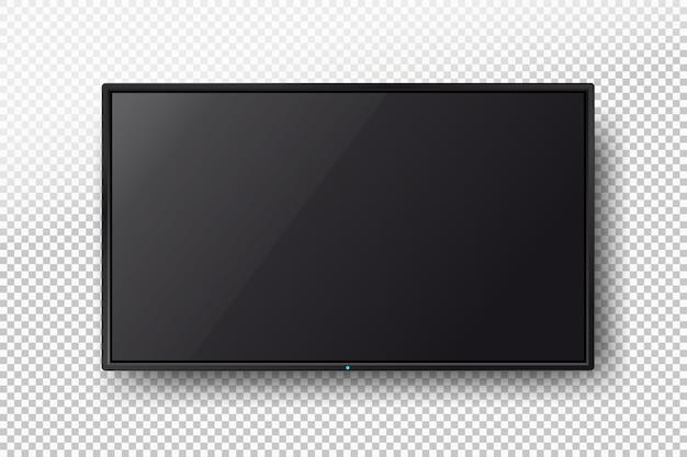 Tv, moderna pantalla lcd en blanco, led.