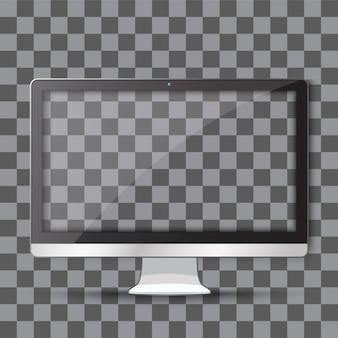 Tv moderna con transparente