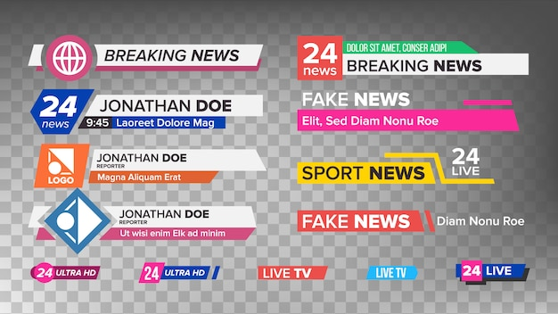 Tv news bars set