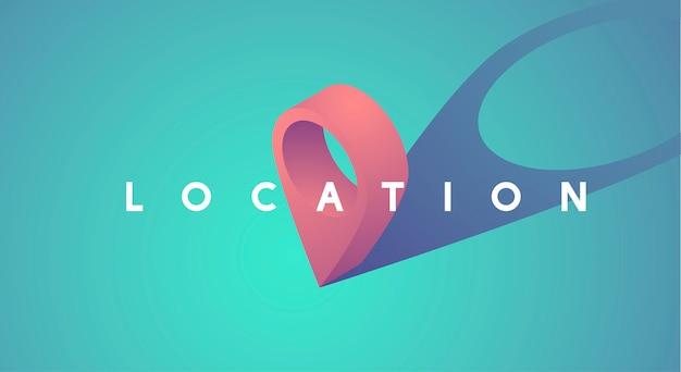 Ubicación puntero icono gráfico vector illustration