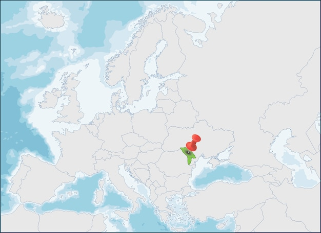 Ubicación de la república de moldavia en el mapa de europa