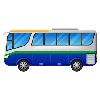 Un autobús sobre un fondo blanco