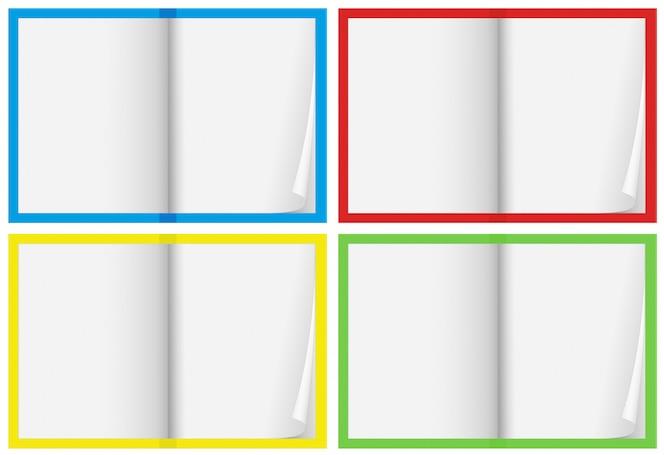 Un conjunto de cuaderno en blanco
