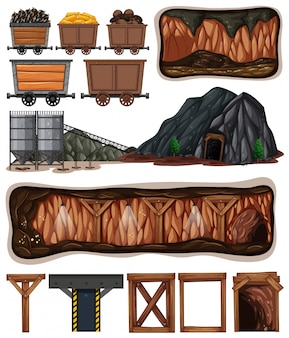 Un conjunto de elementos mineros