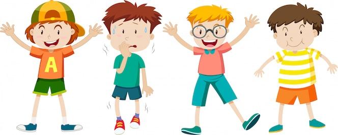 Un conjunto de expresión infantil