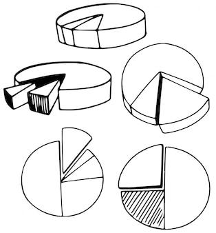 Un conjunto de gráfico de doodle