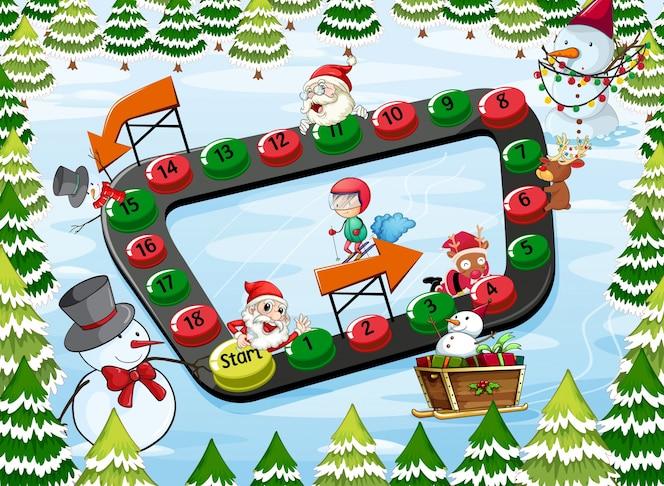 Un juego de mesa de navidad