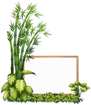 Un marco de madera de bambú natural