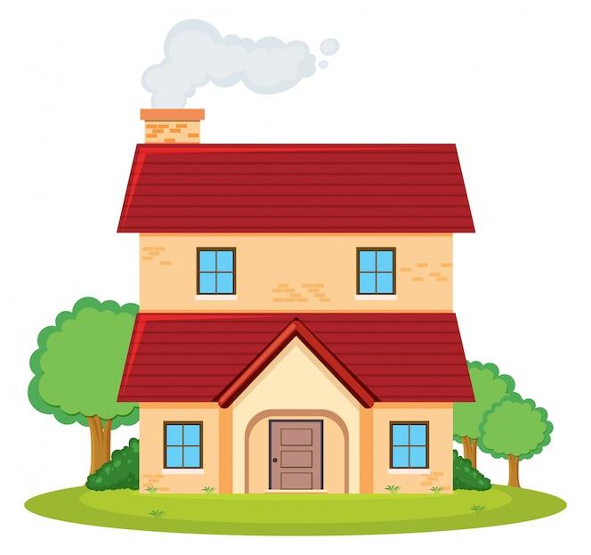 Una casa de dos pisos