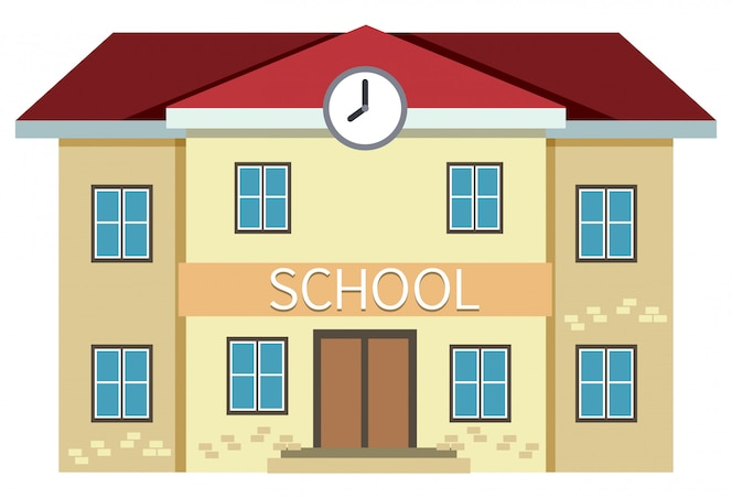 Una escuela amarilla