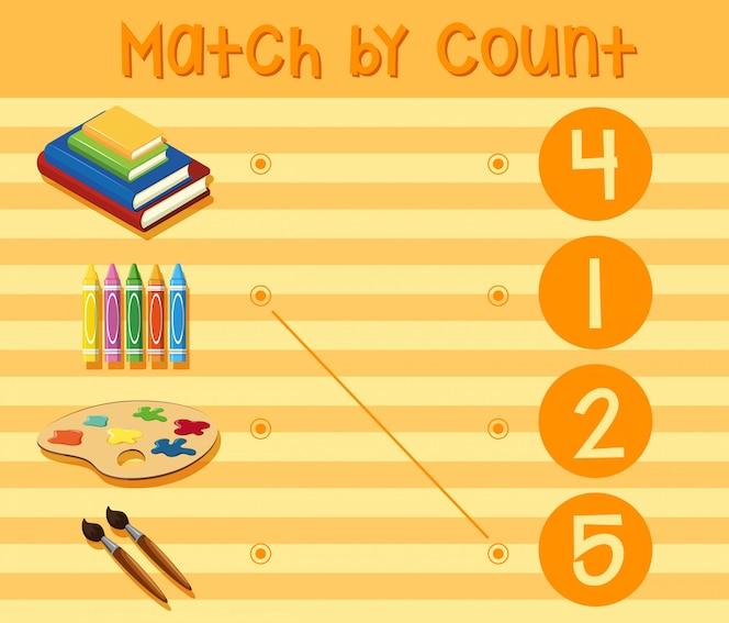 Una hoja de trabajo de números matemáticos