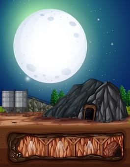 Una mina de luna llena