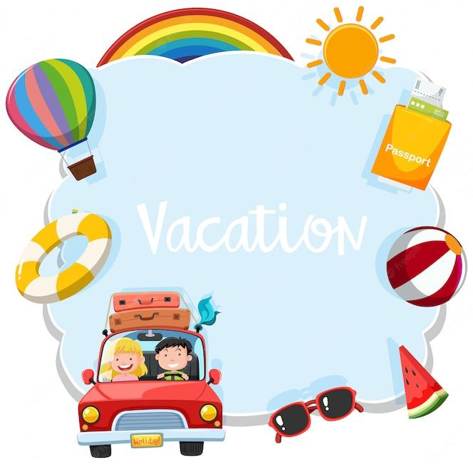 Una plantilla de vacaciones turísticas