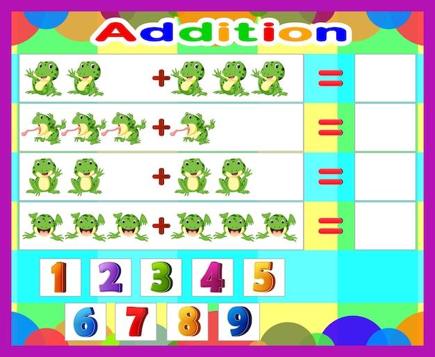 Une la suma de matemáticas con el número