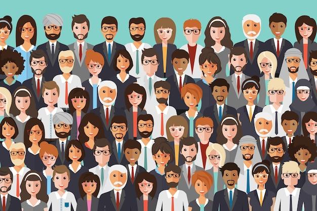 Únete a nuestra comunidad. multitud de gente unida