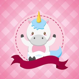 Invitación De Fiesta De Cumpleaños De Niña Con Unicornio