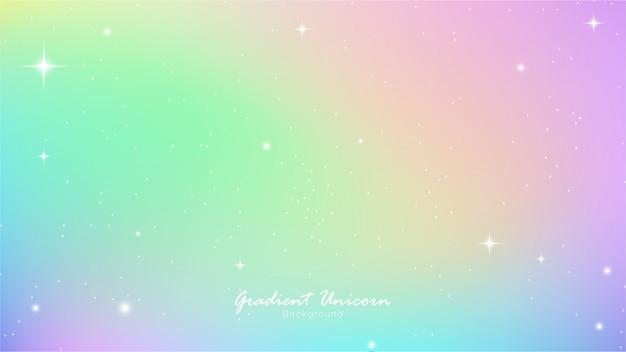 Unicornio cielo colorido gradiente