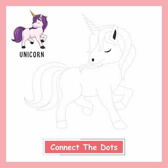Unicornio dibujo conecta los puntos animales