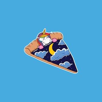 Unicornio de dibujos animados para dormir