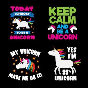 Unicornio diciendo y citando se