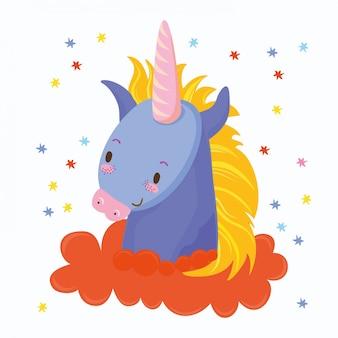 Unicornio en estrellas