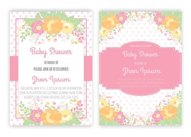 Unicornio floral unicornio decoración tarjeta baby shower.