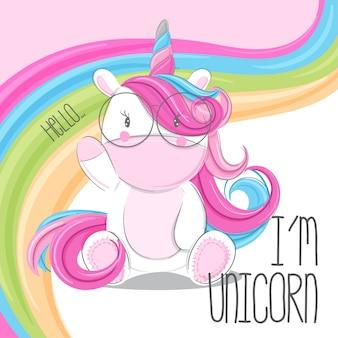 Unicornio lindo dibujado a mano ilustración-vector