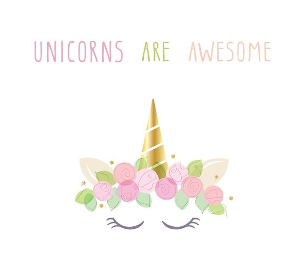 Unicornio lindo personaje de catroon.
