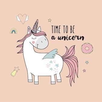 Unicornio lindo. unicornio mágico