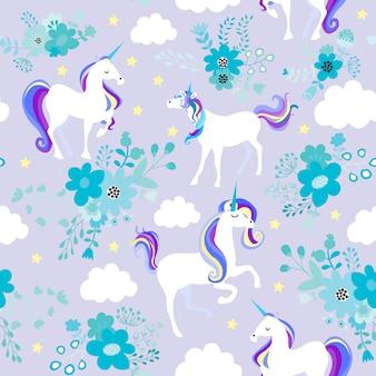 Unicornio sueño morado