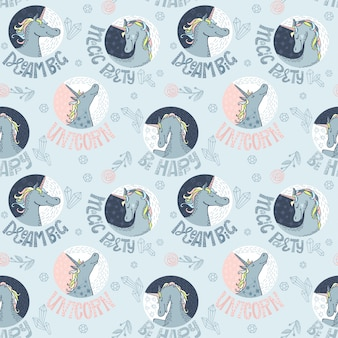 Unicornios sin patrón. letras de unicornios
