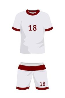 Uniforme de fútbol aislado en blanco