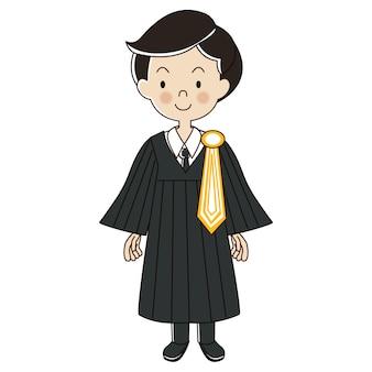 Uniforme de hombre de abogado tailandés