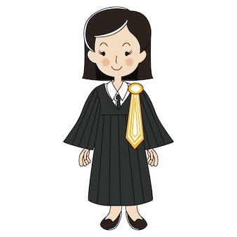 Uniforme de mujer de abogado tailandesa