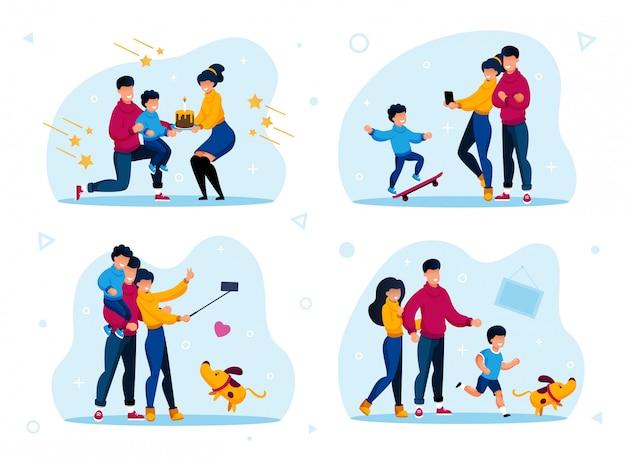 Unión familiar, relaciones felices